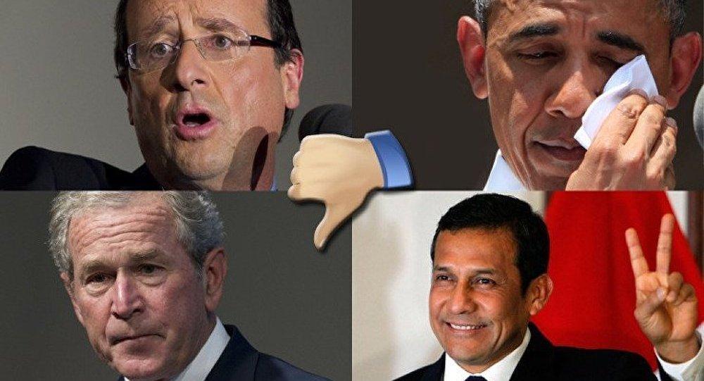Les hauts et les bas des cotes de popularité des présidents