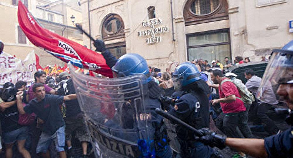 Rome : des heurts entre les manifestants et la police