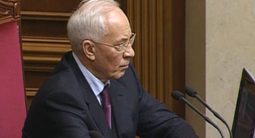 Ukraine : le conflit politique inspirée de l'étranger (Azarov)