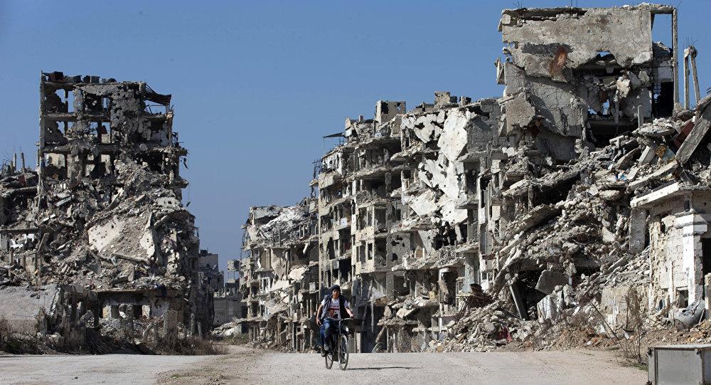 La ville de Homs, Syrie