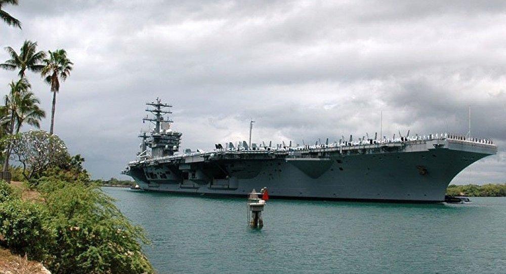 L iran va utiliser une copie d 39 un porte avions am ricain lors des prochains exercices militaires - Liste des porte avions americains ...