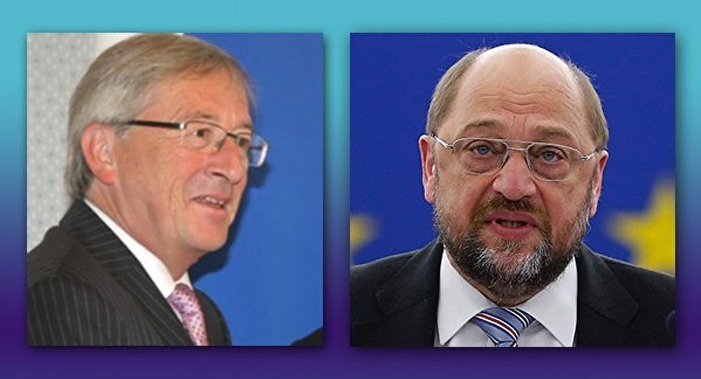 Jean-Claude Juncker et Martin Schulz