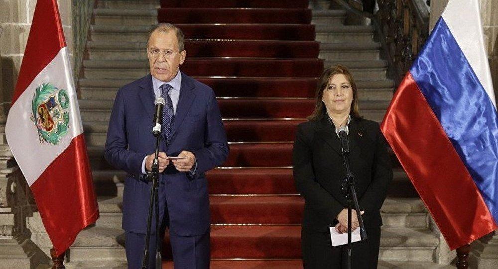Sergueï Lavrov est en visite au Pérou