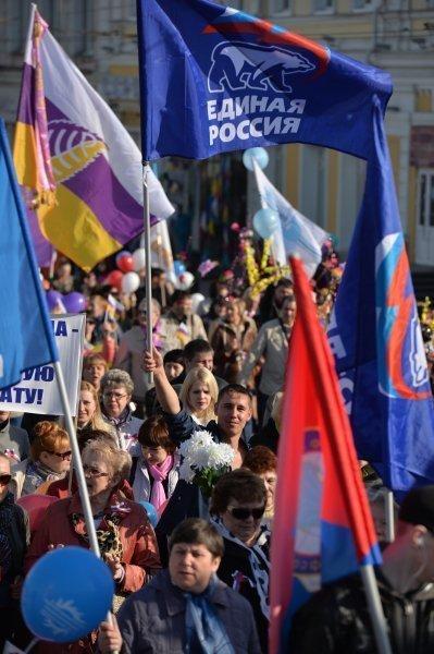 La manifestation du 1er Mai à Omsk.