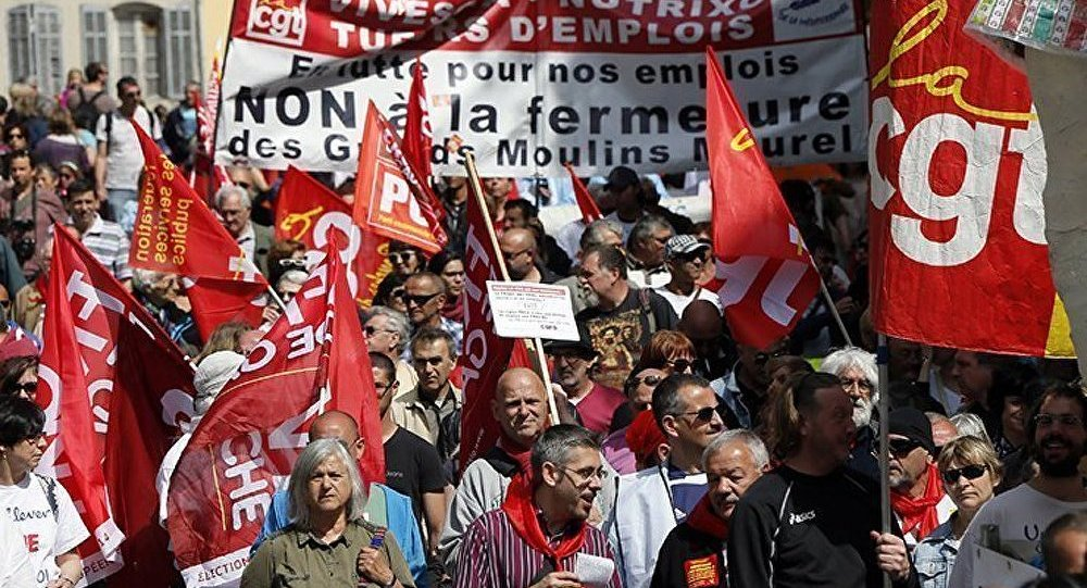Meetings et manifestations à Paris à l'occasion du 1er mai