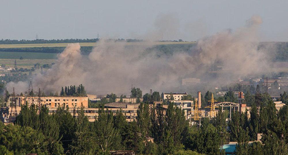 Les journalistes russes sous les tirs de mortier près de Slaviansk