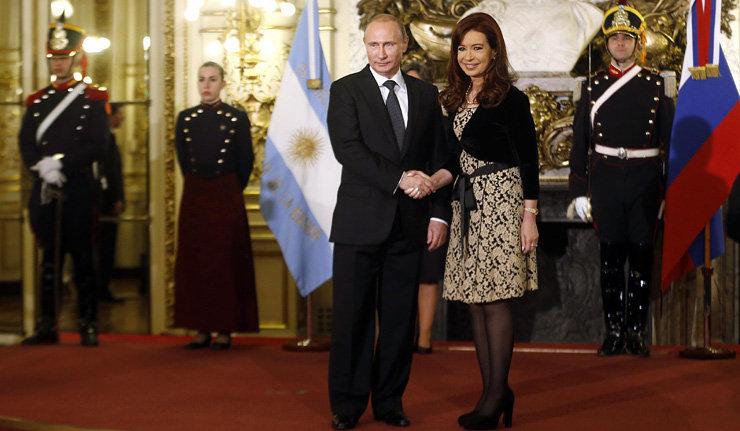 Vladimir Poutine et Cristina Fernández de Kirchner