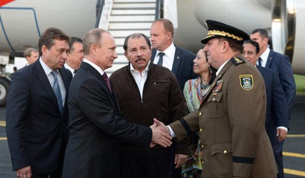 Vladimir Poutine et Daniel Ortega