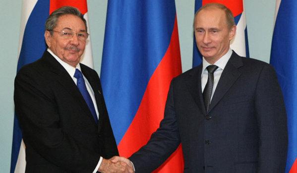 Raul Castro et Vladimir Poutine