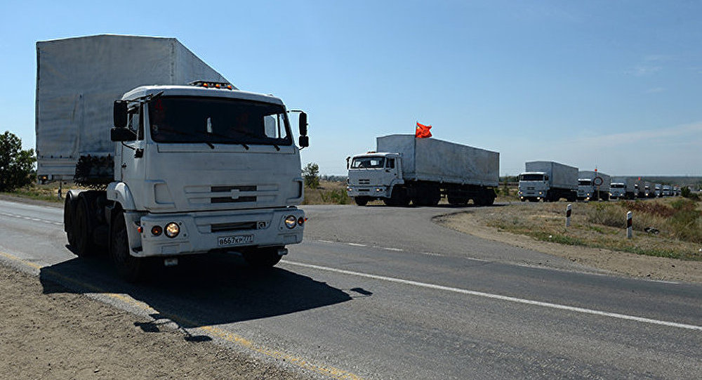 La Croix-Rouge scellera les KamAZ chargés d'aide humanitaire après la douane