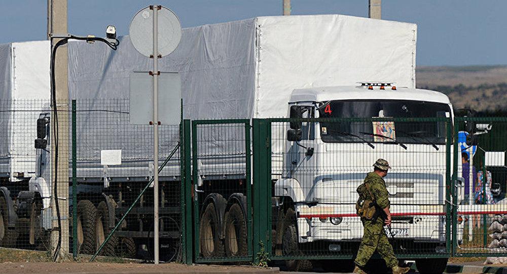 Tous les camions Kamaz avec l'aide humanitaire russe sont arrivés à Lougansk (autorités)