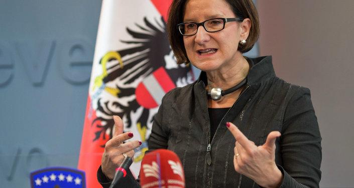 La ministre autrichienne de l'Intérieur, Johanna Mikl-Leitner