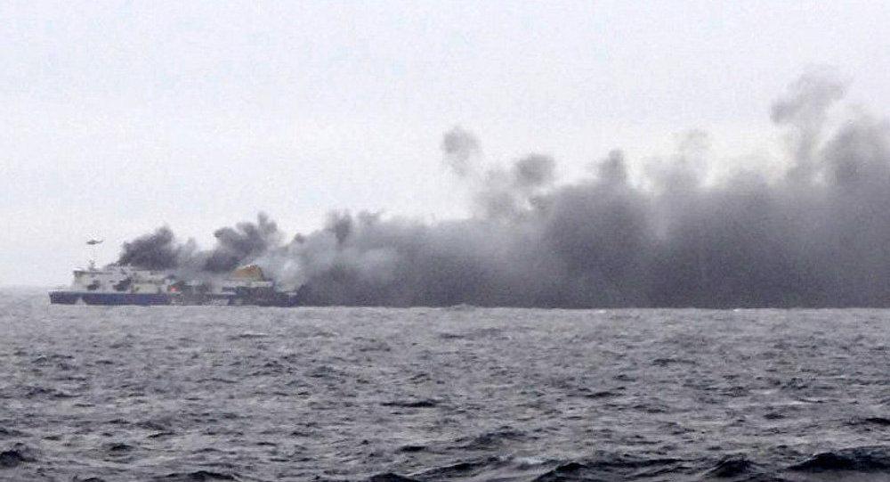 Incendie sur un ferry italien au large de la Grèce, évacuation en cours