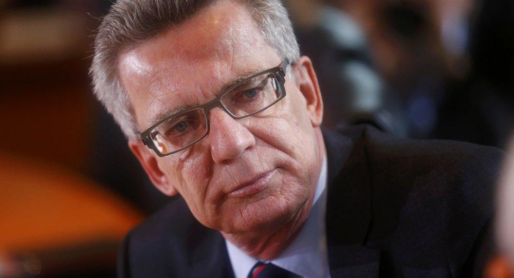 Le ministre allemand de l'Intérieur Thomas de Maiziere