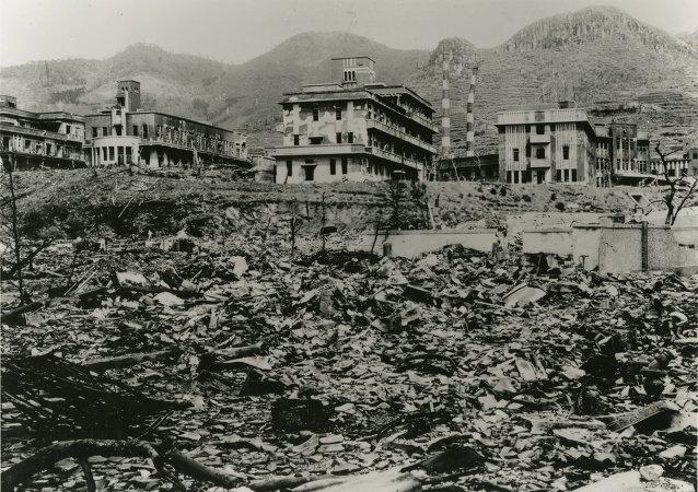 La ville de Nagasaki après le bombardement atomique du 9 août 1945