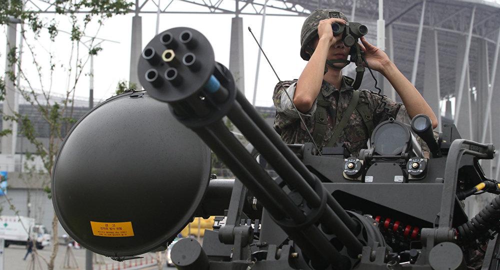 un soldat sud-coréen