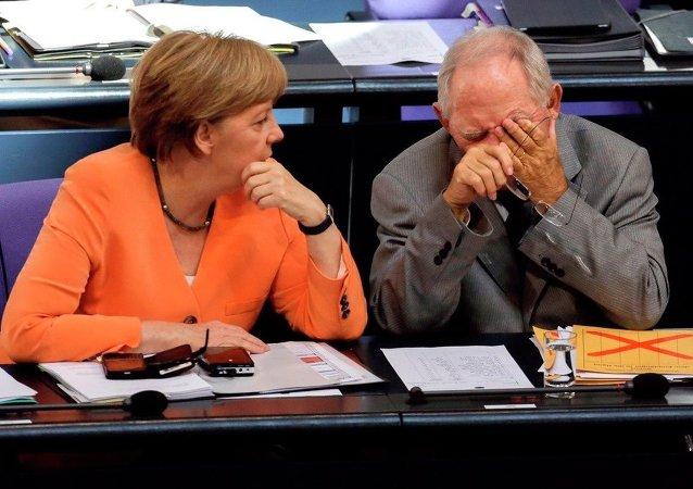 Angela Merkel et Wolfgang Schaeuble