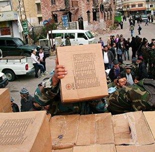 Moscou livre de l'aide humanitaire à la province de Damas