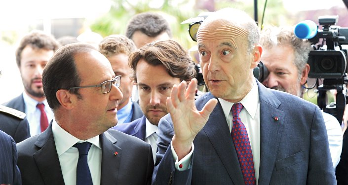François Hollande et Alain Juppé. Archive photo
