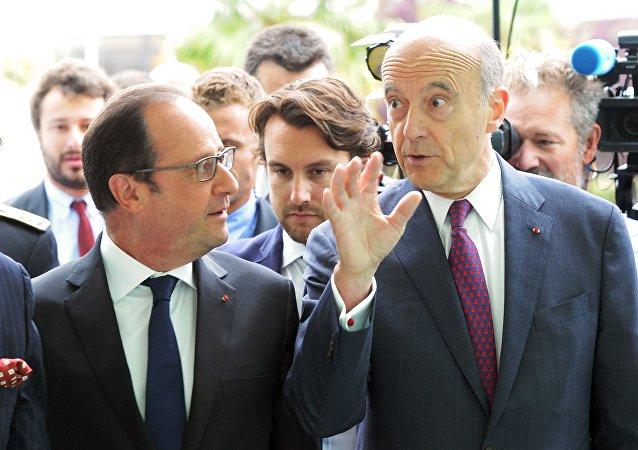 François Hollande et Alain Juppé. Archive photo
