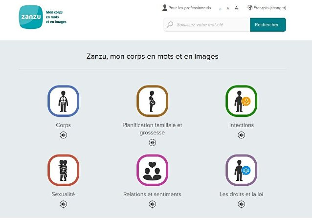 Le site Internet pour les réfugiés sur le sexe Zanzu