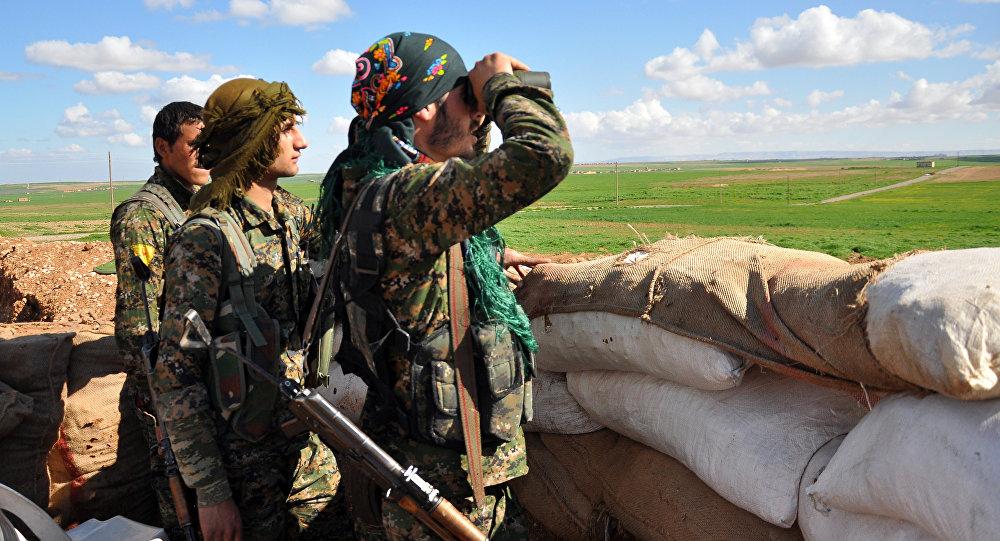 Combattants des YPG en Syrie