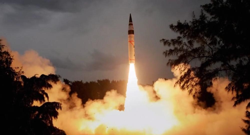 Le lancement du missile « Agni-1 »