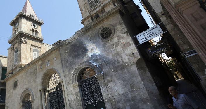 Une église chrétienne à Alep