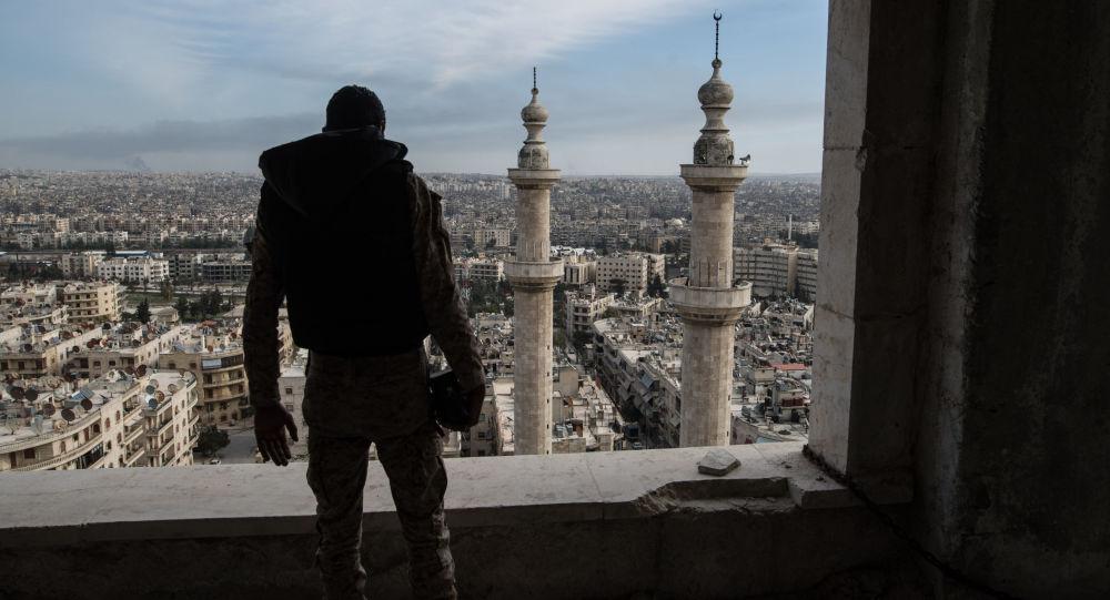Soldat syrien à Alep