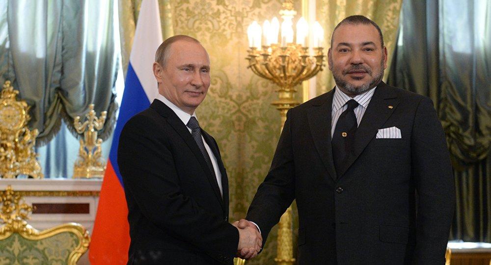 Mohammed VI et Vladimir Poutine