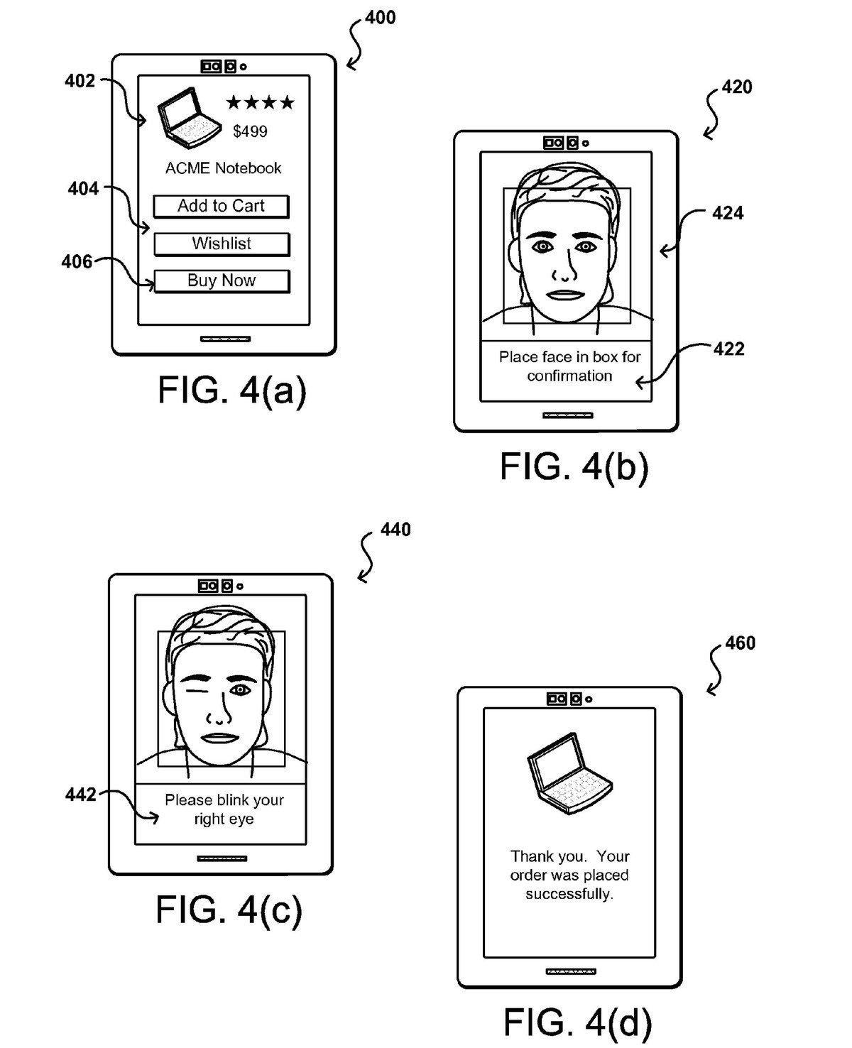 Amazon brevet selfie