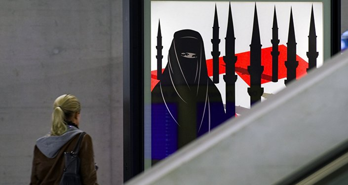 Une initiative anti-burqa en Suisse. Archive photo