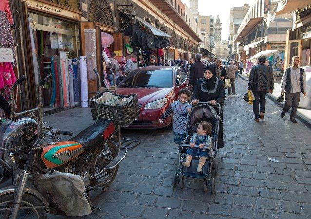 Dans un ancien quartier de Damas