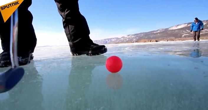 Tournoi de golf sur glace du Baïkal
