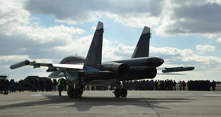 Un Su-34 russe de retour de Syrie
