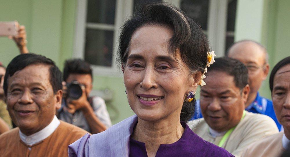 birmanie la prix nobel de la paix sera chef de la diplomatie sputnik france. Black Bedroom Furniture Sets. Home Design Ideas
