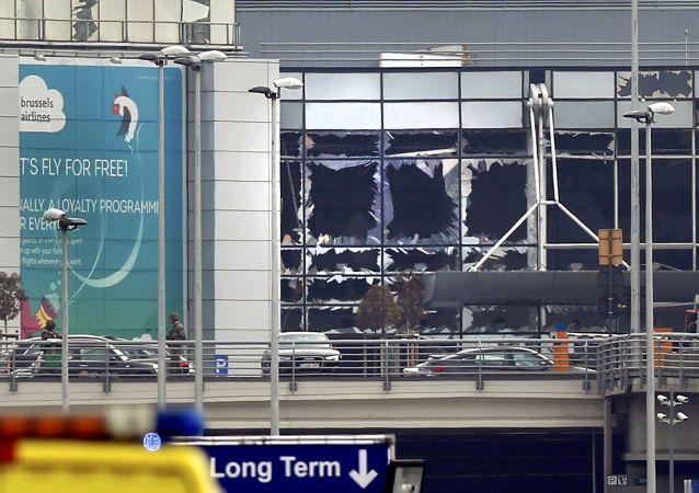 Aéroport de Bruxelles après les explosions du 22 mars