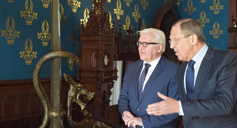 Sergueï Lavrov et Frank-Walter Steinmeier
