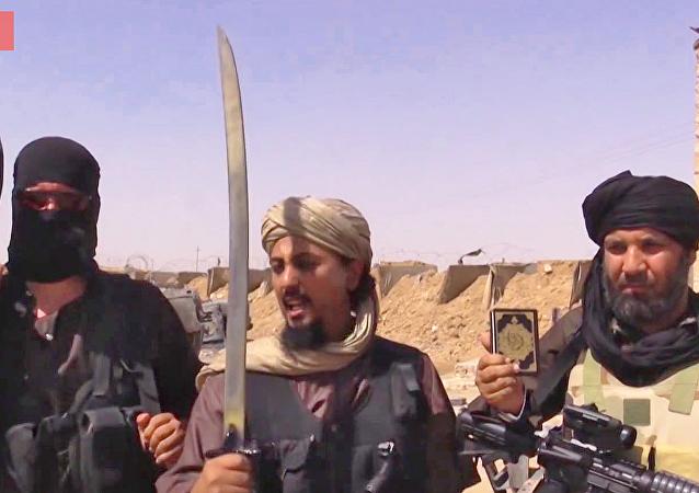 Des membres du groupe terroriste Etat islamique (Daech)