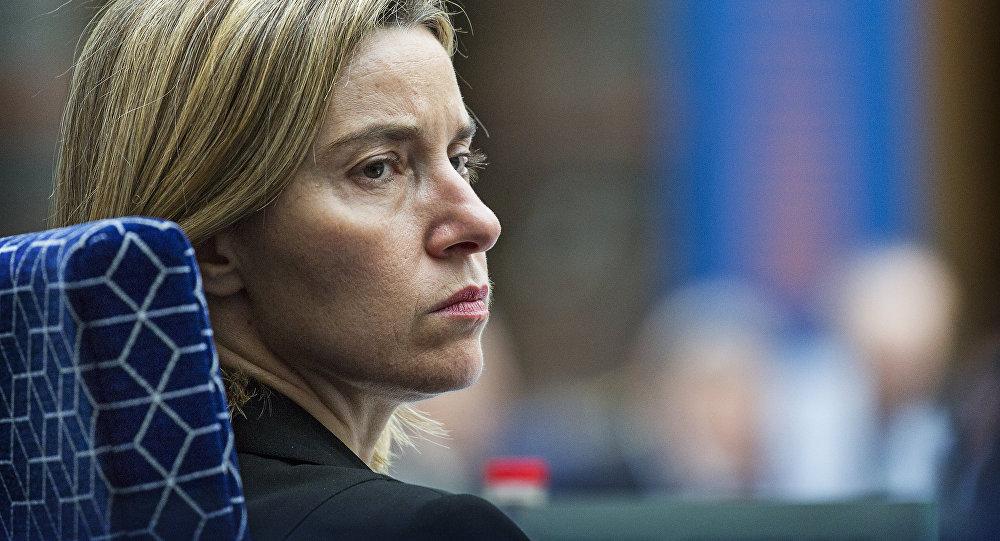 Federica Mogherini, la haute représentante de l'Union européenne pour les affaires étrangères