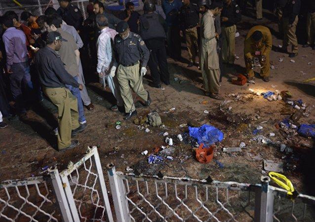 Sur les lieux de l'attentat de Lahore