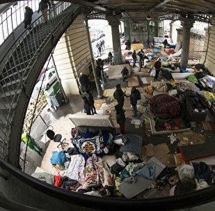 Un camp de migrants à Stalingrad