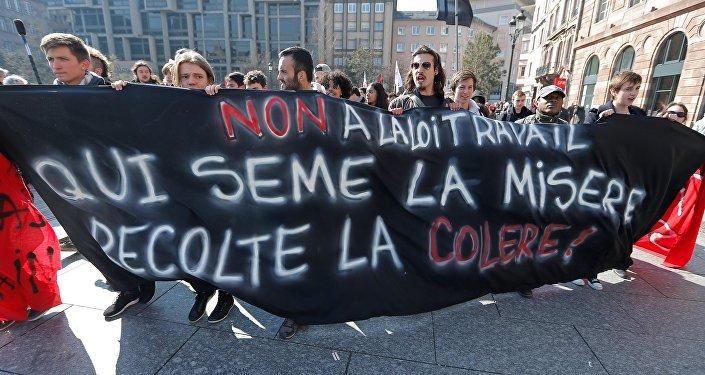 Grève contre la Loi Travai. Archive photo