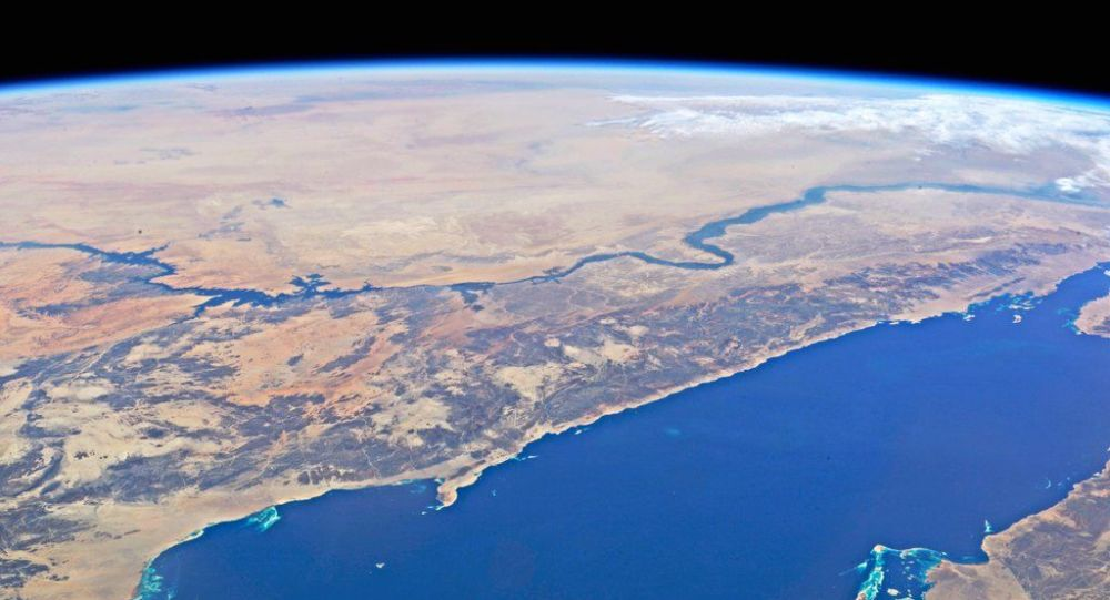 La mer Rouge et le Nil depuis la Station spatiale internationale