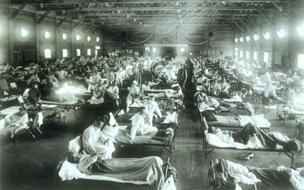 Au cours de l'épidémie de la grippe espagnole, 1918