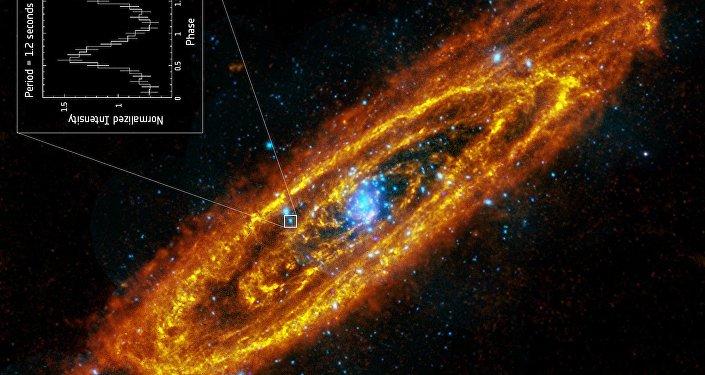Une étoile à neutron trouvée dans la nébuleuse d'Andromède
