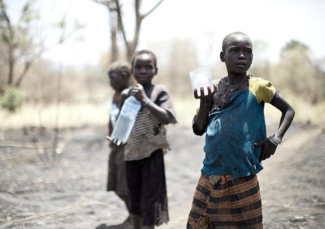 Les enfants en Afrique. Image d'illustration