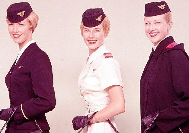 Hôtesses de l'air. Image d'illustration