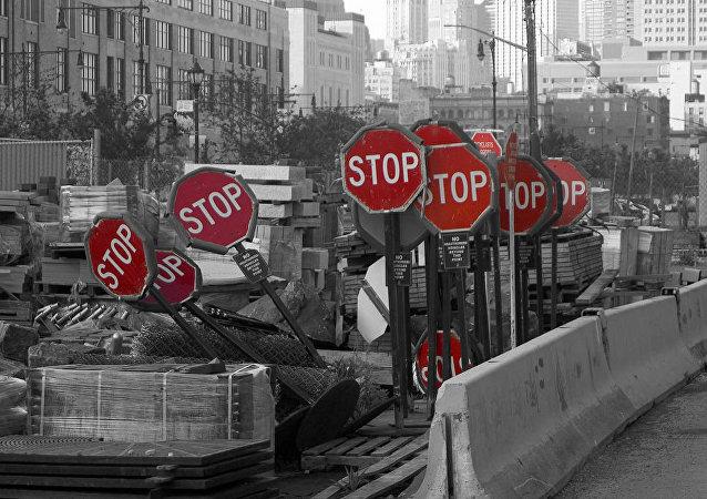 panneau d'arrêt