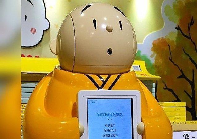 Chine: un moine robotisé au Temple de Longquan